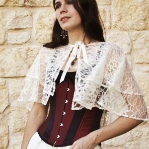 Ivory Lace Capelet