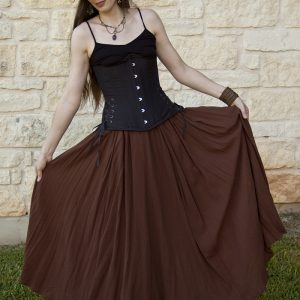 Brown Gauze Cotton Renaissance Skirt