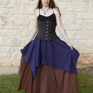 Blue Linen Pixie Skirt