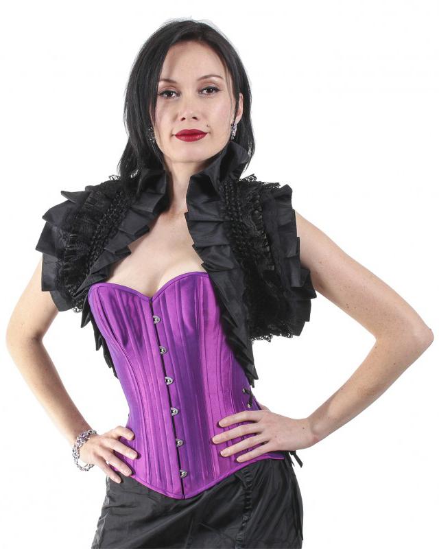 Black Ruffled Lace Shawl