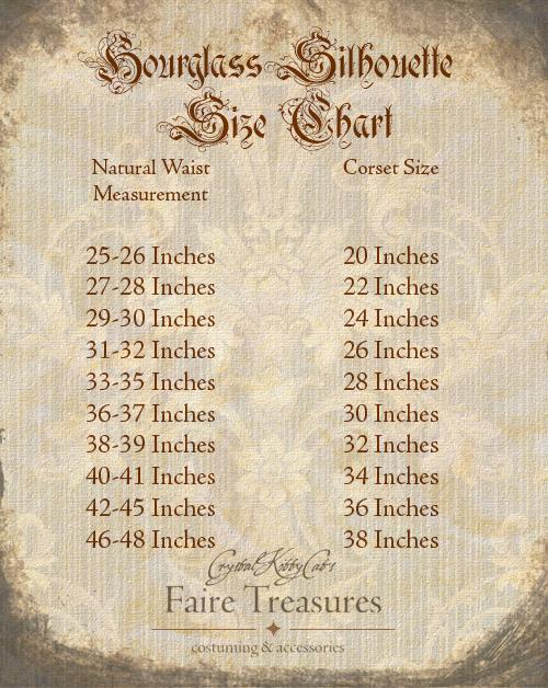 Hourglass Corset Size Chart