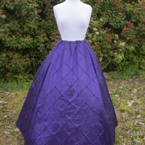 Purple Pintuck Taffeta Renaissance Skirt
