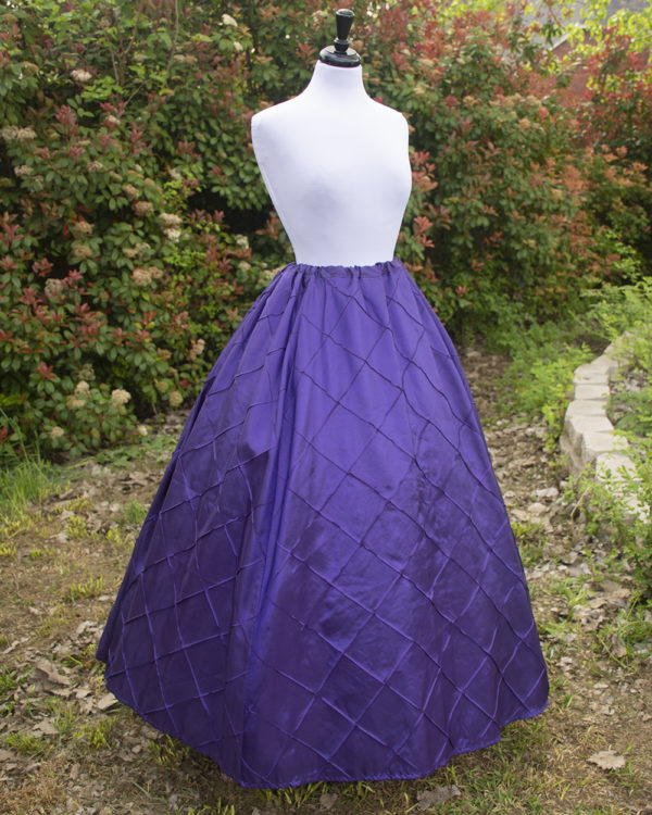 Purple Pintuck Taffeta Renaissance Skirt