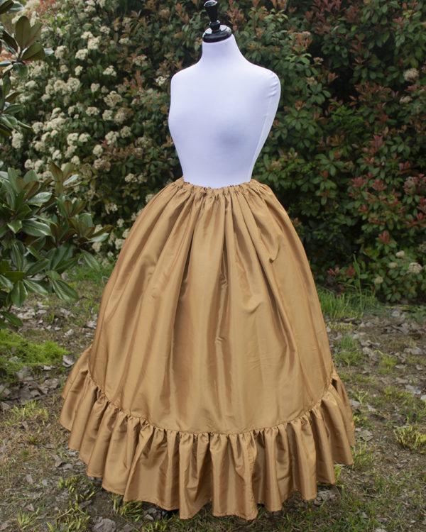 Gold Taffeta Ruffle Skirt
