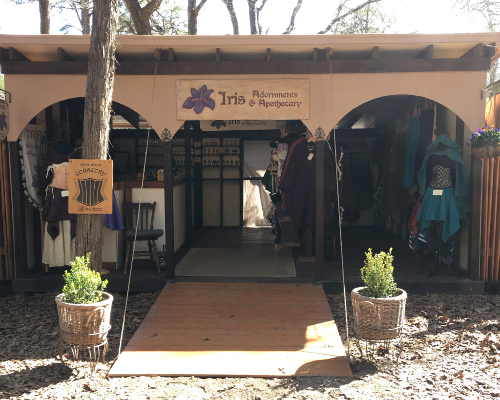 Iris Adornments & Apothecary at Sherwood Forest Faire 2020