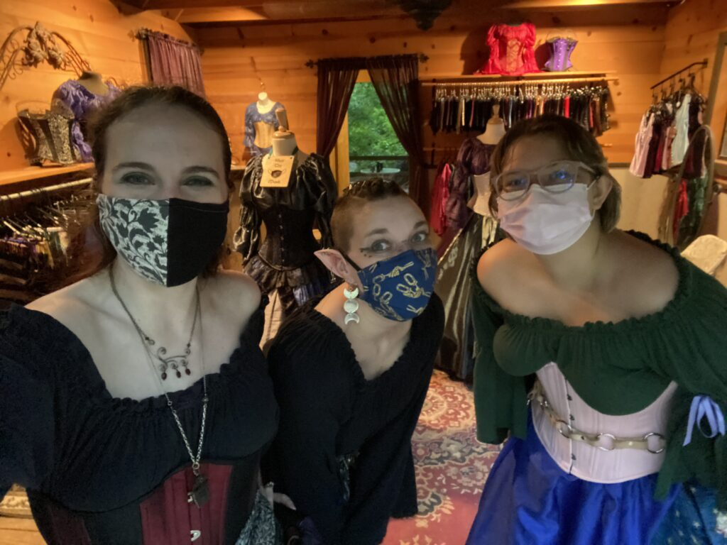 Our crew on the final weekend of Scarborough Renaissance Festival.