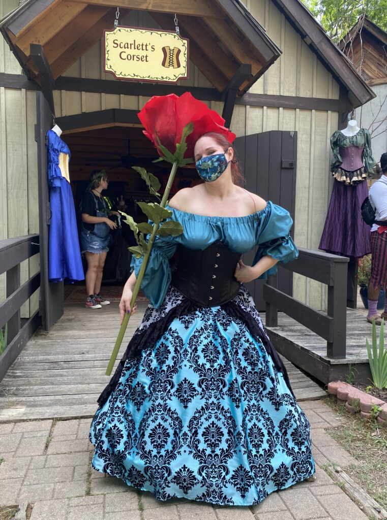 One of our lovely customers at Scarborough Renaissance Festival.